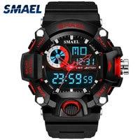 SMAEL-Reloj Digital con pantalla Led para Hombre, cronógrafo deportivo de pulsera, estilo militar, analógico, resistente a los golpes