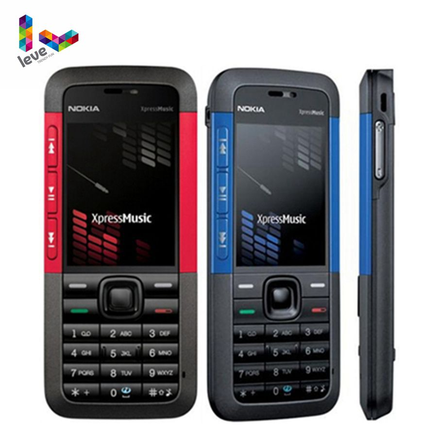 Original Unlocked Nokia 5310 XpressMusic 5310XM Bluetooth Java MP3 Player Refurbished Mobile Phone