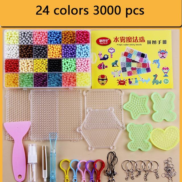 Bricolage eau magique perles ensemble jouets pour enfants animaux moules main faisant Puzzle enfants jouets éducatifs garçon fille sort reconstituer les haricots
