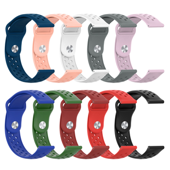 20mm Silicone Watchband For Samsung Galaxy Watch Active 42mm For Gear S2 Sport Replacement Bracelet Band Strap фото