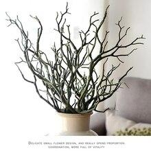3 шт. 36 см Manzanita сухое искусственное поддельное лиственное растение ветка дерева Свадьба домашняя церковная офисная мебель зеленый белый