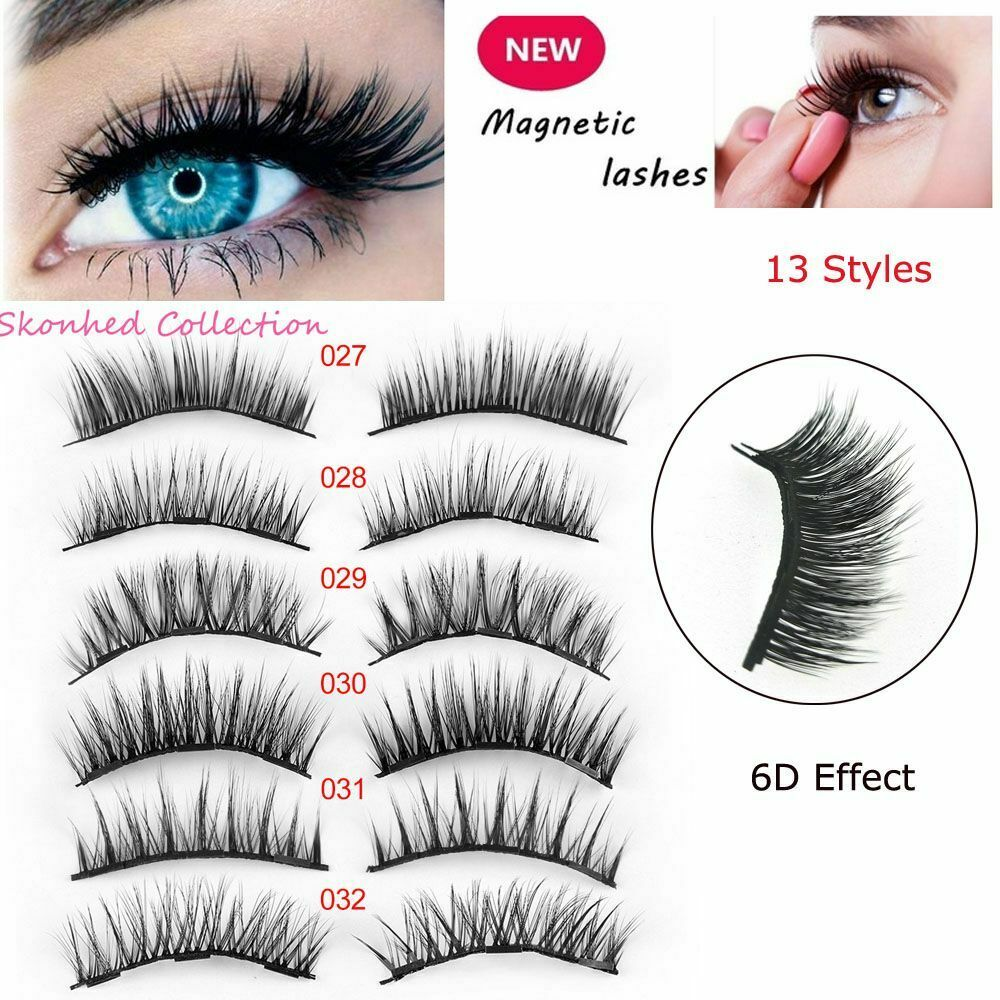 4 Pcs 6D Effect Reusable Triple Magnetic False Eyelashes Extension Tools Full Coverage Lashes Thick Maquiagem Faux Cils No Hurt