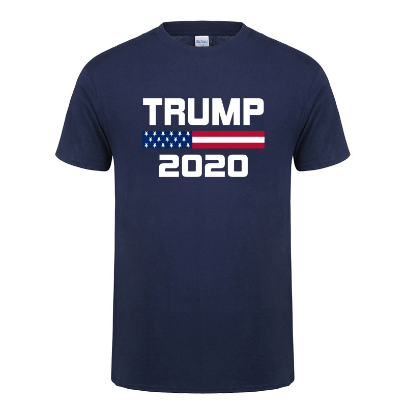 American Flag Keep America Great Donald Trump For President USA 2020 Republican T Shirt For Men Male O Neck Cotton T-Shirt Tee