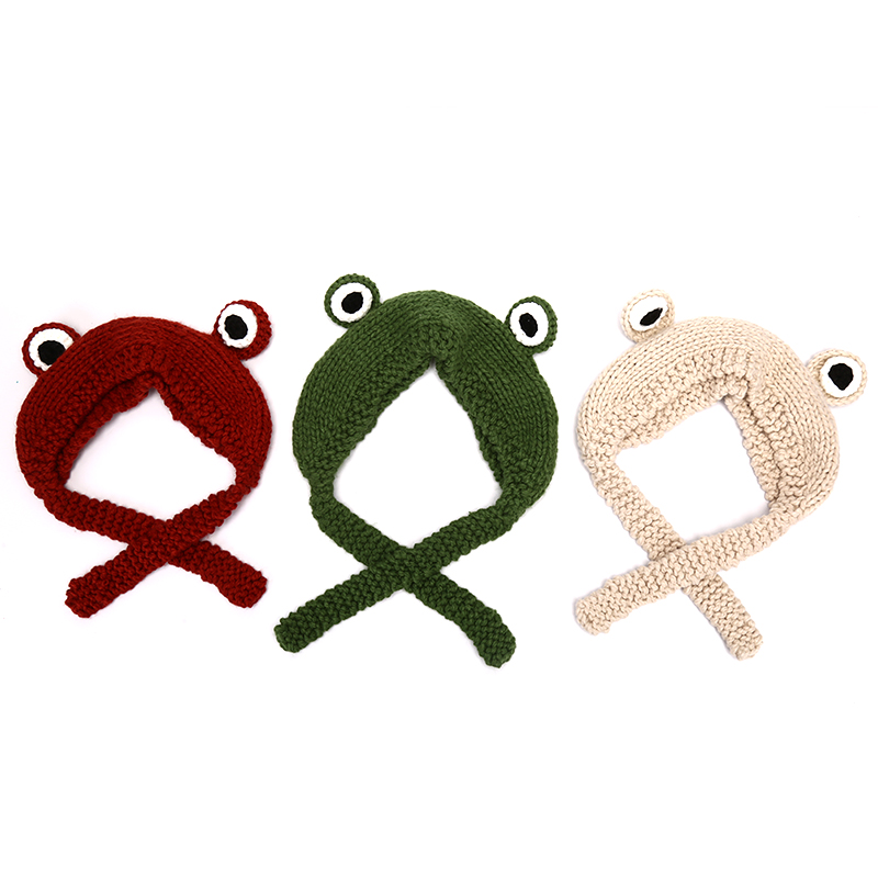 Japanese Cartoon Hat Lovely Frog Han Edition Photo Props Warm Earmuffs Knitting Hat Female Students