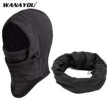 Face-Mask Hunting Balaclava Hiking-Caps Sports-Caps Fleece Warm Winter WANAYOU Windproof
