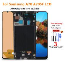 100 testowane 6 7 #8222 AMOLED wyświetlacz LCD do Samsung Galaxy A70 LCD A705 A705F SM-A705MN wyświetlacz dotykowy Digitizer zgromadzenie tanie tanio UMOVINTH CN (pochodzenie) Pojemnościowy ekran 2160*1080 3 For Samsung A70 2019 A705 LCD LCD i ekran dotykowy Digitizer