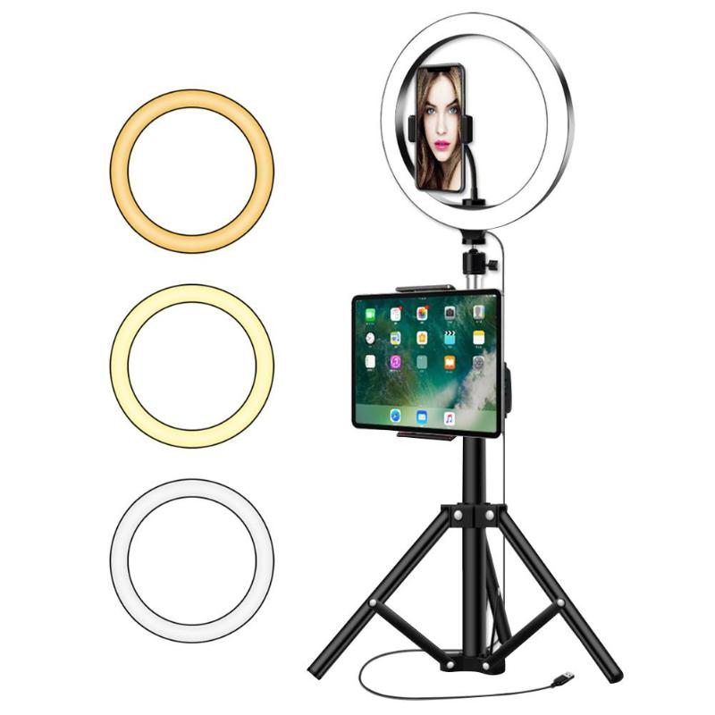 26cm ABS LED Ring Selfie Lamp Fill Light With 1.2m Tripod For Makeup Ring Light Studio Support Dropshipping