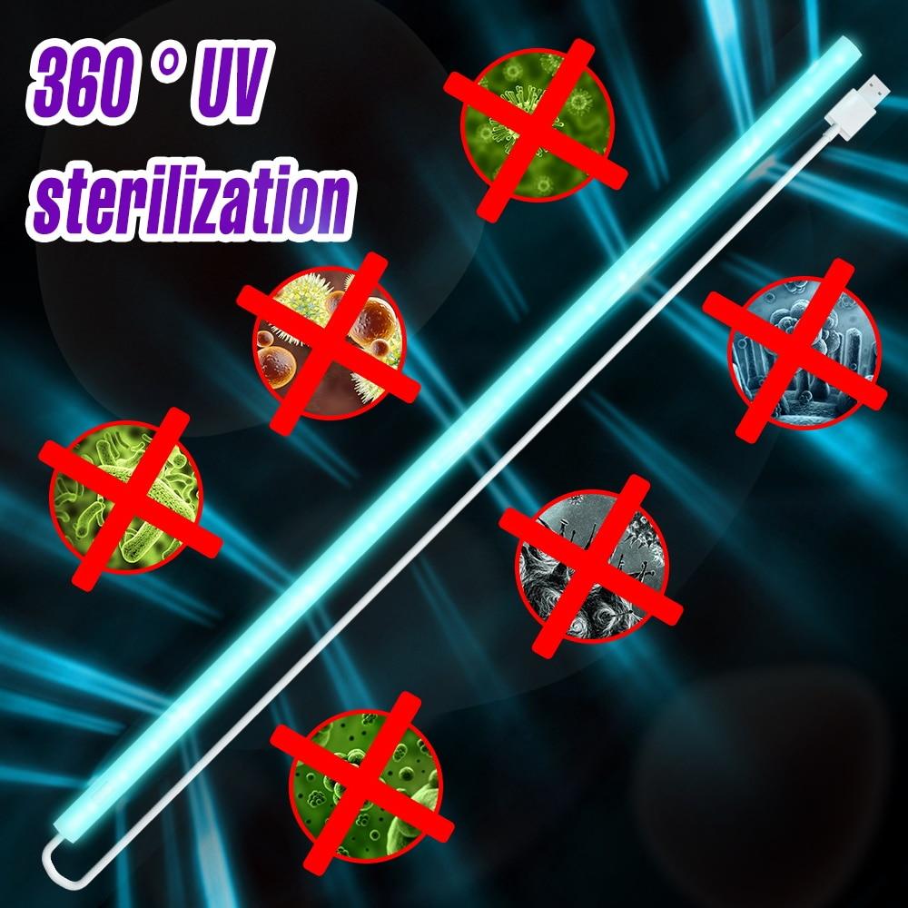 USB 5V Germicidal UV Light Tube Led Disinfection Ultraviolet Lamp 20/30/40/50CM Smart Switch UVC Ozone Lights Hand Sweep Sensor