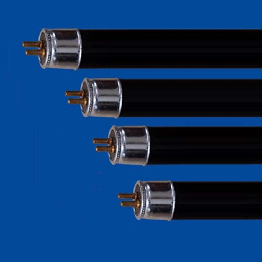 2-Pack T5 4W 6W 8W ประหยัดพลังงาน UV Black Light สีฟ้าตรงหลอด, 365nm แสง UVA,BLB,สีม่วง,T8 10W 15W