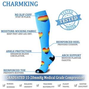 Image 5 - Compression Socks (4/6/7/8 Pairs), 15 20 Mmhg Is BEST Graduated Athletic & Medical for Men & Women Nurse Running Flight Travels