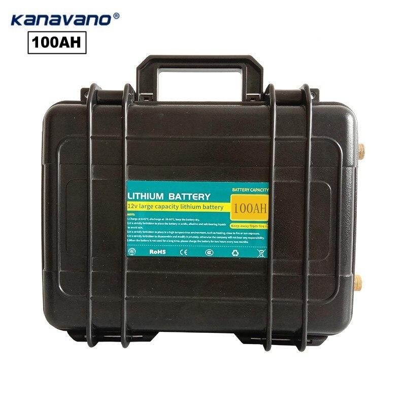 12V100AH batterie au lithium batterie rechargeable de grande capacité boîte 18650 poste de liaison peut être connecté à la lampe sonore de l'onduleur