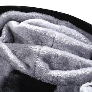 Image 4 - Zimowy ciepły dres zestaw dla mężczyzn casualowa kurtka garnitur męska marka odzież męska bluzy garnitur dwa kawałki bluza z zamkiem Dropshipping