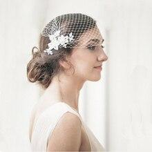 Romantic Women Bride Veil Lace Appliqued Wedding Accessories