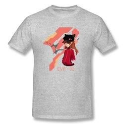 Pixel art Asuka T Shirt popularna męska koszulka z krótkim rękawem męska biała koszulka z nadrukiem evangelion letnie duże koszulki bawełniane bluzki 3