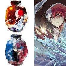 Anime My Hero Academia todorki Shoto 코스프레 후드 티 코스프레 남성 캐주얼 스포츠 스웨터 신품