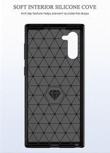 Image 3 - Silikon Telefon Fall Für Samsung Galaxy Note 10 Pro Weichen Carbon Zurück Abdeckung Stoßstange galaxi Note10 Plus 10Pro Note10Pro 10 Plus
