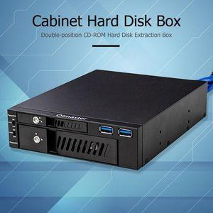 2.5/3.5 Inch Interne Hdd Ssd Case Box Dual USB3.0 Optische Drive Mobiele Rack Station Harde Schijf Behuizing Voor desktop Pc(China)