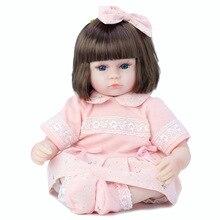 16 '' 42cm reborn doll Reborn Bebe bonecas reborn baby doll girl toy realistic baby reborn princess doll birthday Christmas gift кукла luxury china brand bjd 10 reborn baby reborn baby doll 026