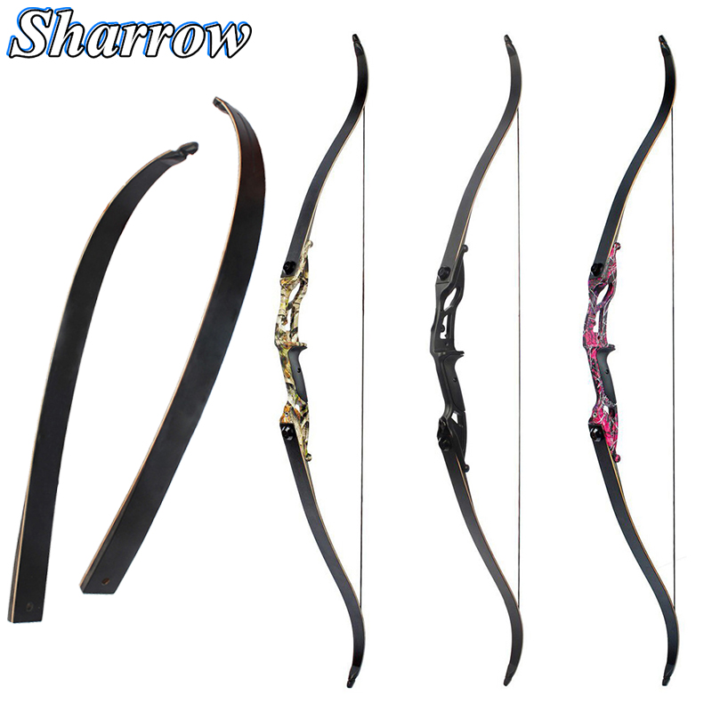 Archery 30-50lbs Recurve Bow 56inch American Hunting Longbow Advanced Bow Limbs Shooting Bow And Arrow Accessory Crossbow