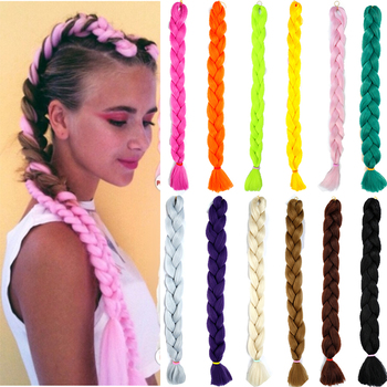 MUMUPI 82Inch Synthetic Jumbo Braids hair 20 Colors Available 165g/Pack Blonde Crochet False Braiding Hair Extensions 1