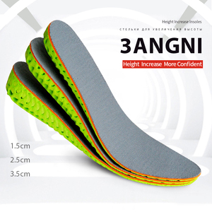 3ANGNI Height Increase Insoles Soft Invisiable Lift Insole Breathable Honeycomb Taller Height Increase Shoe Pad Free Size