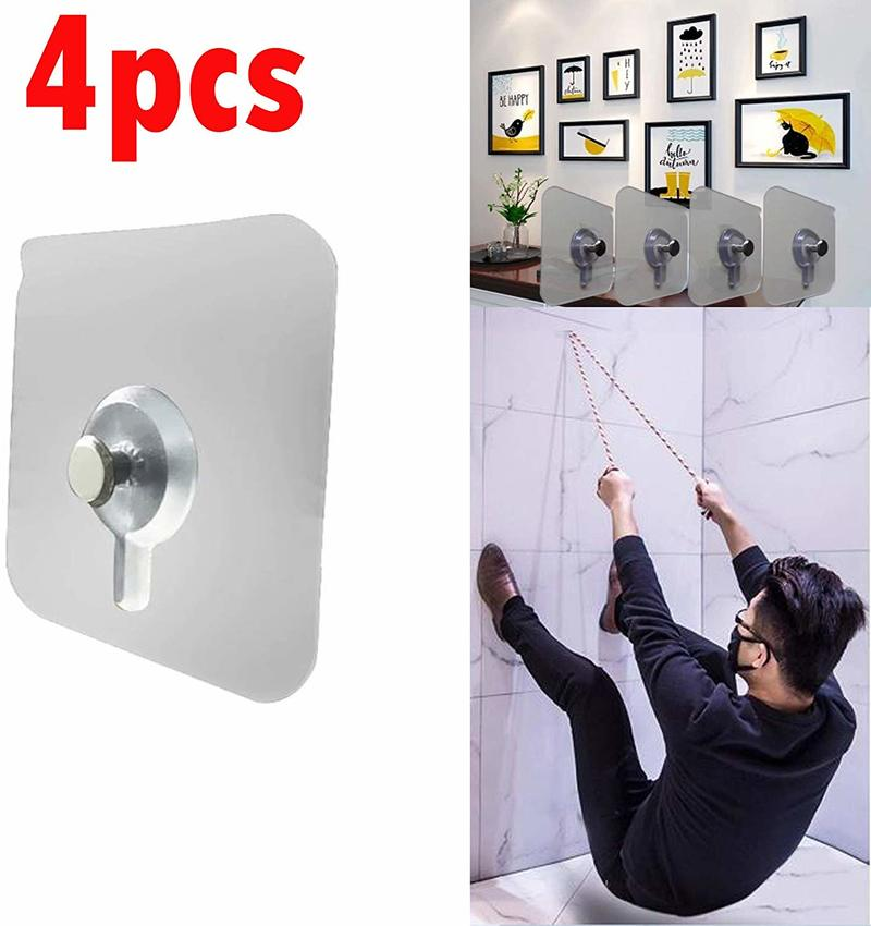 4pcs Cross Stitch Wall Painting Hole Hook Self Adhesive Hole Nail Non-Trace Photo Frame Hole Hanging Nail