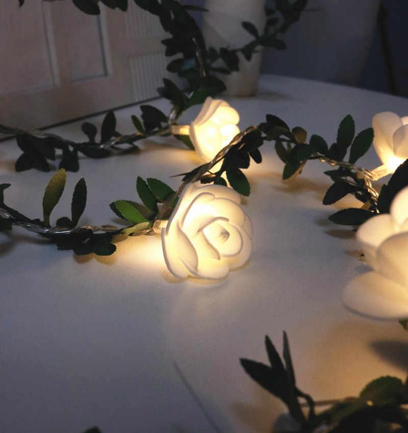 10 נוריות מחרוזת אורות עלה פרח קישוט סוללה מופעל חג אהבת חתונה אירוע חתונה מסיבת חג המולד זר 1.5M