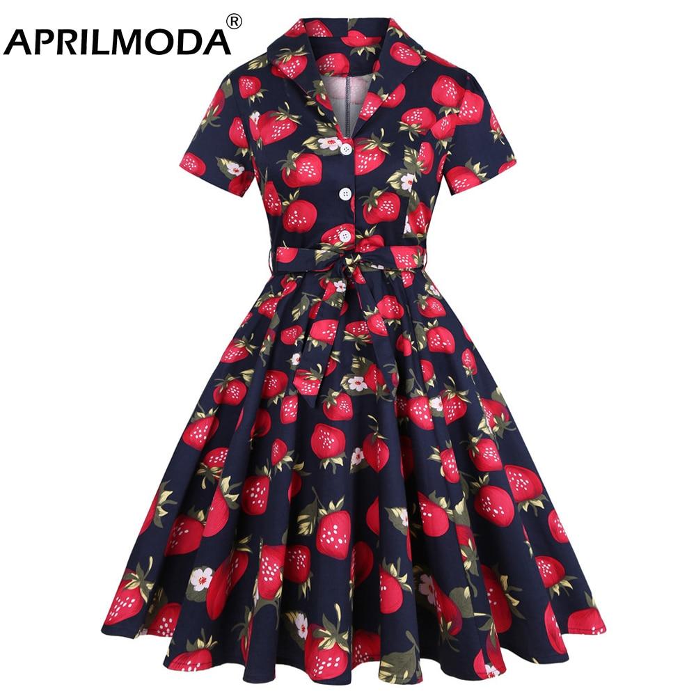 2021 Vintage 50s bayanlar çiçek pileli artı boyutu 3XL 4XL Rockabilly elbise kadınlar yüksek bel Pinup zarif elbiseler kemer