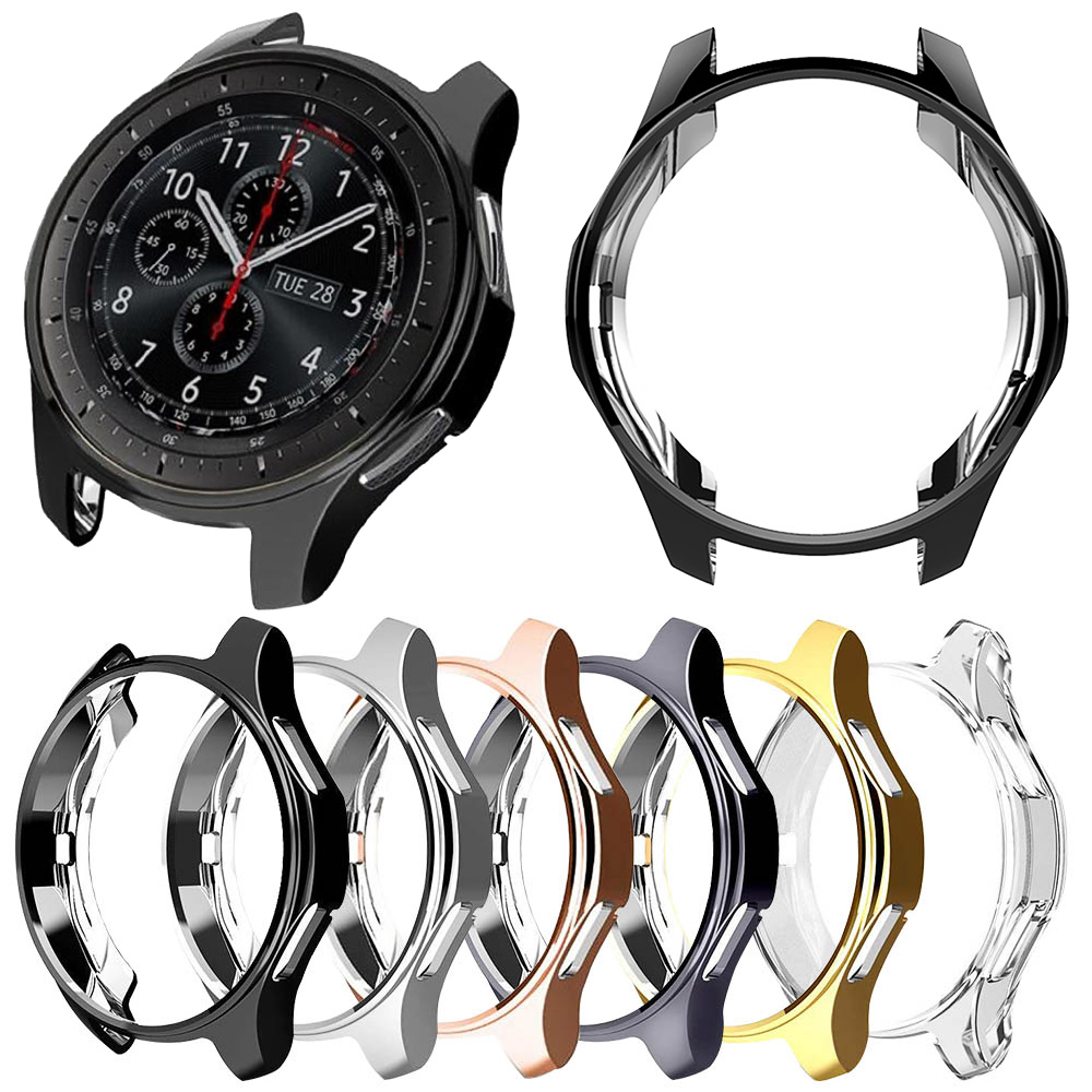 Protective Case for Samsung Galaxy Watch 46mm/42mm/Active 2 1 Cover Lightweight Soft TPU Bumper for Gear S3 Shell Accessories