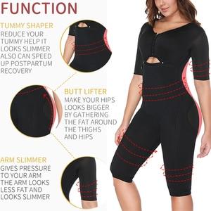 Image 2 - Women Fajas Colombianas Powernet Full Body Shaper Post Surgery BodySuit Waist Trainer Corset Shapewear Tummy Control Arm shaper