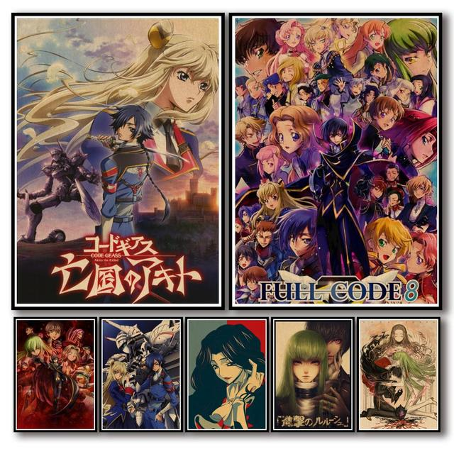 Code Geass Lelouch of The Rebellion Anime Posters Canvas Painting Wall Decor Poster Wall Decor Wall Art Picture Home Decor 1