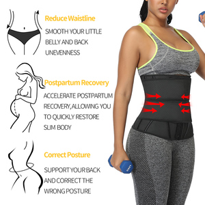 Image 2 - Waist Trainer Women Slimming Sheath Workout Trimmer Belt Latex Tummy Shapewear Sauna Body Shaper Corset Sweat Reducing Girdles
