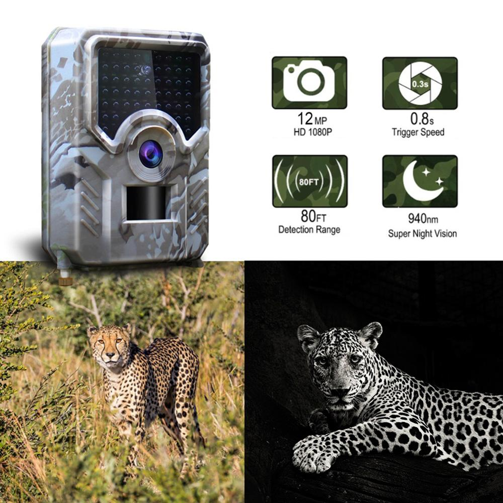 12MP 1080P Trail Hunting Camera IR LED Wild Surveillance HT001B Night Version Wildlife Scouting Cameras Photo Traps Track image