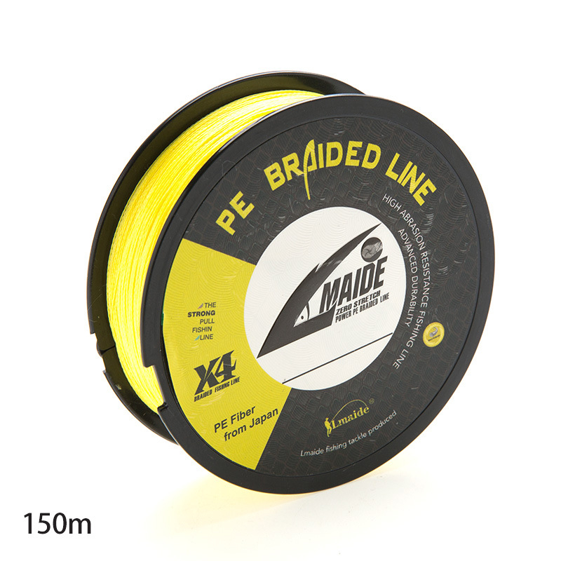 150M PE Braided Fishing Line 4 strands Woven Imported Raw Silk PE Sea Fishing Anti bite Wear Fishing Line in Fishing Lines from Sports Entertainment
