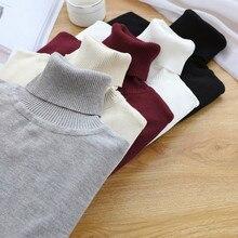 GIGOGOU размера плюс M-2XL водолазка женский свитер вязаный пуловер, Рождественский свитер зимняя одежда мягкий джемпер Pull Femme Hiver