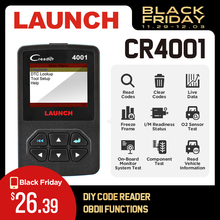 Launch DIY Creader 4001 OBDII/EOBD автоматический диагностический инструмент сканирования читальный инструмент кодов Многоязычная Поддержка и бесплатное обновление