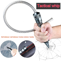Interruptor de ventana de coche, herramienta para corte de vidrio, látigo táctico de autodefensa, herramientas de supervivencia de aleación de aluminio de Seguridad al aire libre