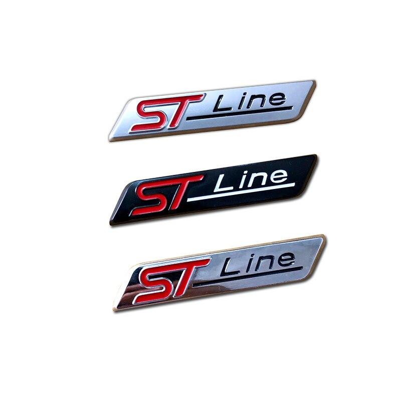 3D Стайлинг ST-Line эмблема автомобильные наклейки ST Line авто значок двери стволы внешние аксессуары