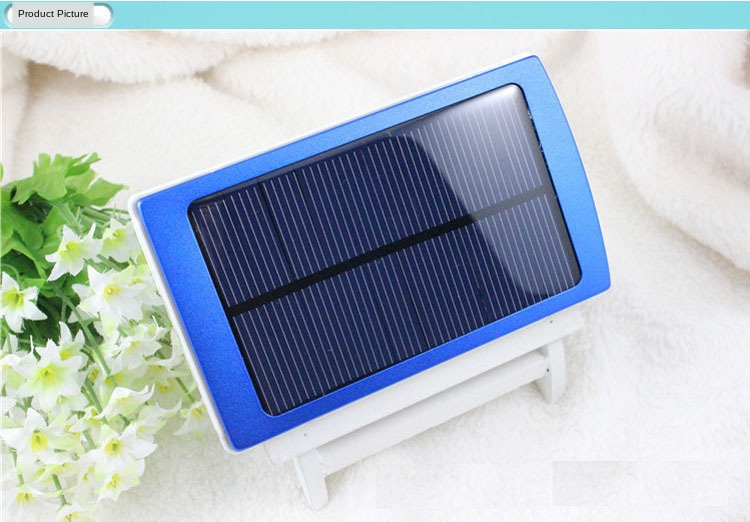 30000mAh Waterproof/Dustproof Solar Power Bank with Double USB Output and LED Flashlight 4