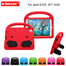 For Apple ipad 4 Case 9.7 inch Kids cute Tablet Protecter cover shock proof EVA foam Hand-held Stand Cover for ipad 2 /ipad 3 portable kids steering wheel for apple ipad mini 1 2 3 eva drop resistance washable stand holder hand held protective case gifts