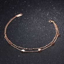 Браслеты из розового золота для женщин ювелирные изделия Модный
