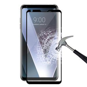 Image 2 - 3D 9H מלא כיסוי שחור מסך מגן עבור LG V30 V40 בתוספת V50 מזג זכוכית מגן זכוכית סרט קצה כדי קצה מלא כיסוי