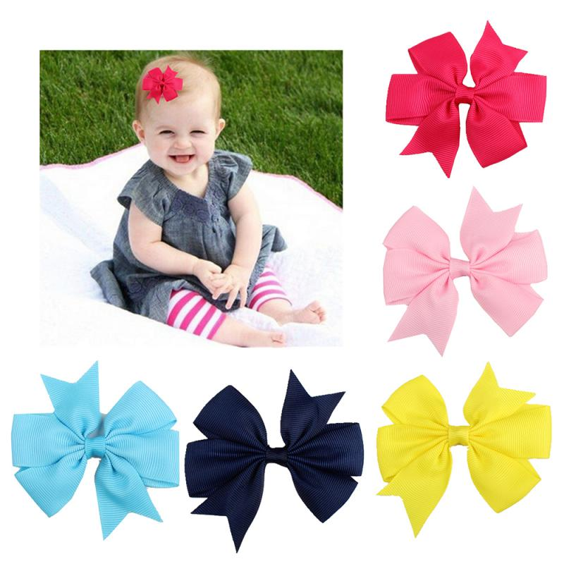 1 Pcs Girl Dovetail Hair Clip Ribbon Bow Knot Hairpin Kids Hair Accessories 5 Color Hairband Kid Hair Decoration New