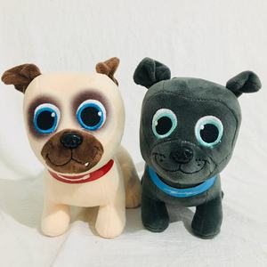 2pcs/lot 20cm Puppy Dog Pets Bingo Rolly Stuffed Animals Plush Toy For Kids Baby Gift(China)
