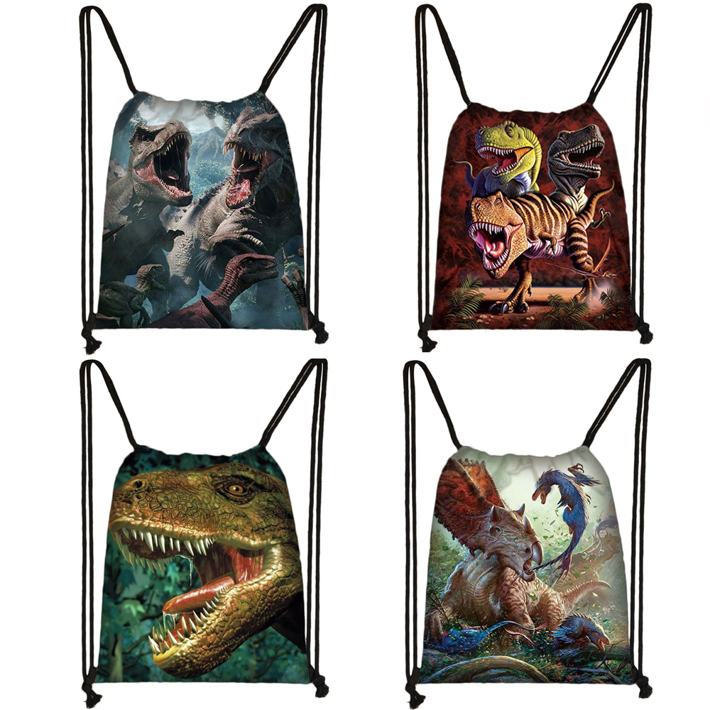 Reptiles Animal Dinosaur Print Drawstring Bag Women Men Travle Bags Teenager Boys Girls Backpack Party Book Bag Gift