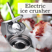 180W 가정용 작은 얼음 기계 스테인레스 스틸 얼음 기계 상업 전기 찻집 카페 바 모래 얼음 기계