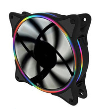 120mm 4 farben 1500rpm silent starke 12cm kreis cpu LED Fan pc fan für Computer Fall 12v Multicolor Kühler Fans(China)