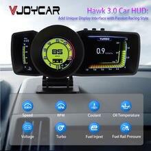 Vjoy Hawk 3.0 – tableau de bord multifonction HUD, affichage tête haute, OBD2 + GPS, compteur de vitesse intelligent, jauge automatique, système d'alarme Turbo Boost