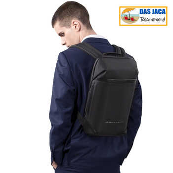 Slim Laptop Backpack Men Women 15.6 inch Office Work Men Backpack Business Bag Unisex Black Ultralight Backpack Thin Mochila