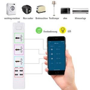 Image 5 - WiFi akıllı güç şeridi evrensel çıkışları priz USB uzaktan ses kablosuz kontrol dalgalanma koruyucusu ile Alexa Google ev